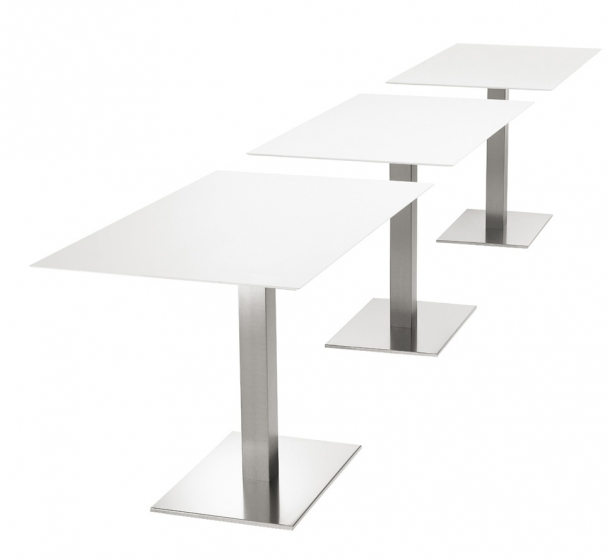 Pied De Table Colonne Inox Rectangle Pedrali Pied De Table Colonne