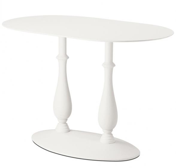 Pied de table colonne Liberty Pedrali ellipse ovale blanc
