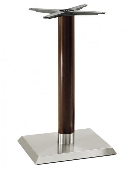 Pied de table colonne Linea Pedrali chromée inox bois ronde carrée