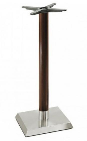 Pied de mange debout Linea Pedrali ronde chromé inox laquée carrée