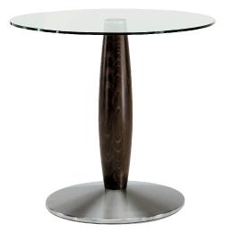 Pied de table colonne Oliva Pedrali chromée ronde inox bois mobilier