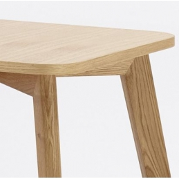 Table basse Duba bois hetre garnie