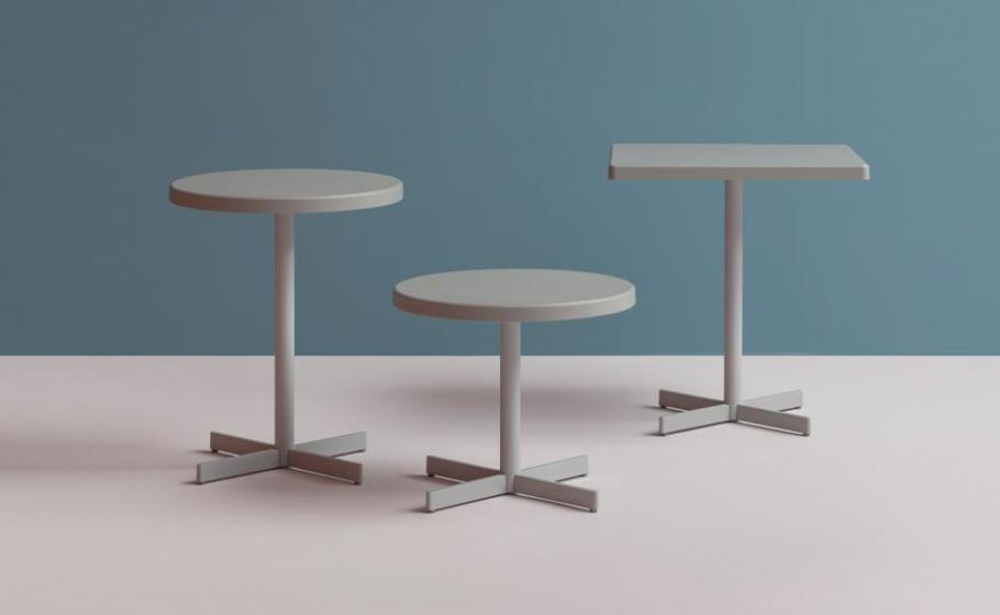 Pied de table colonne Plastic X Pedrali carrée ronde