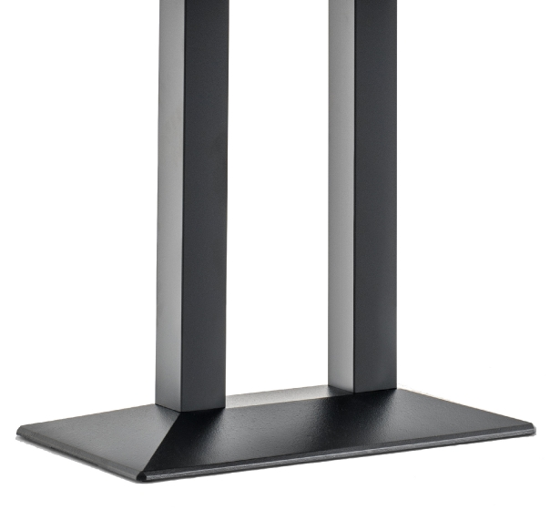 Pied de table colonne Quadra Pedrali carrée acier inox