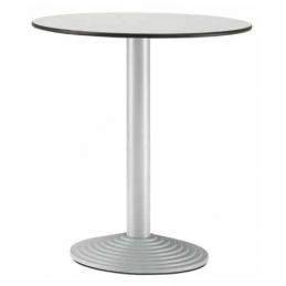 Pied de table colonne Step Pedrali ronde acier inox bois
