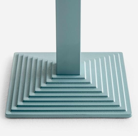 Pied de table colonne Step Pedrali acier bois
