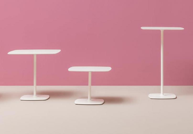 Pied de table basse Stylus Pedrali ronde carrée acier