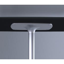 Pied de mange debout Stylus Pedrali carrée ronde acier