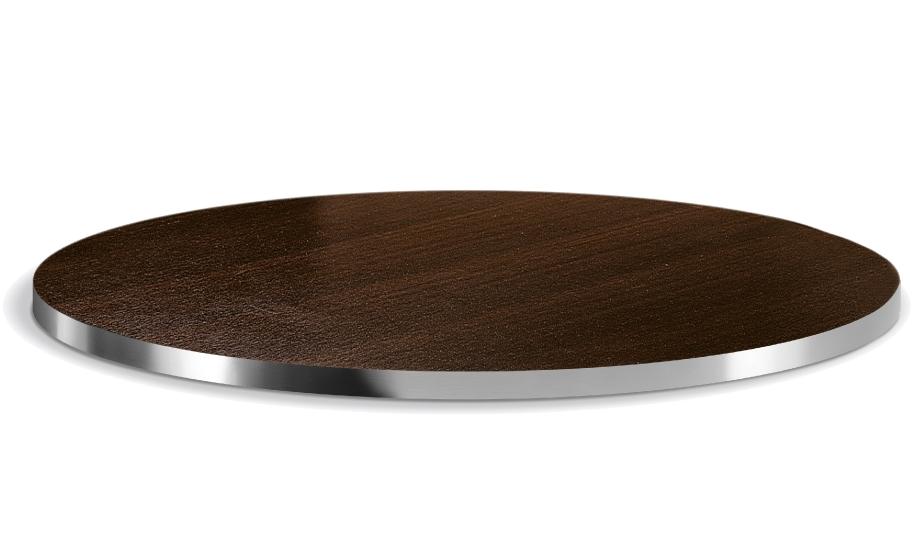 Plateau de table Stratifié Chant aluminium Pedrali