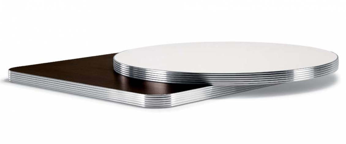 Plateau De Table Stratifie Chant Aluminium Pedrali Hotel Cafe Bar
