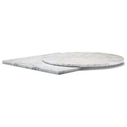Plateau de table Marbre blanc Carrare Pedrali
