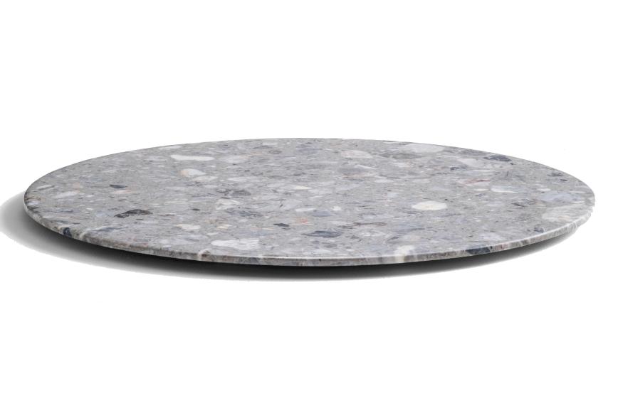 Plateau de table Marbre composé Pedrali droit plat biseauté