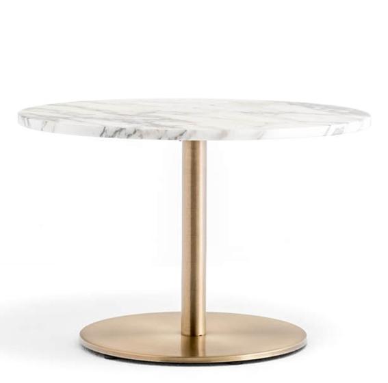 Table basse Inox marbre Pedrali ronde droit plat hotel café bar promo