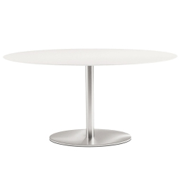 Tables pied central Inox elliptique Pedrali inox