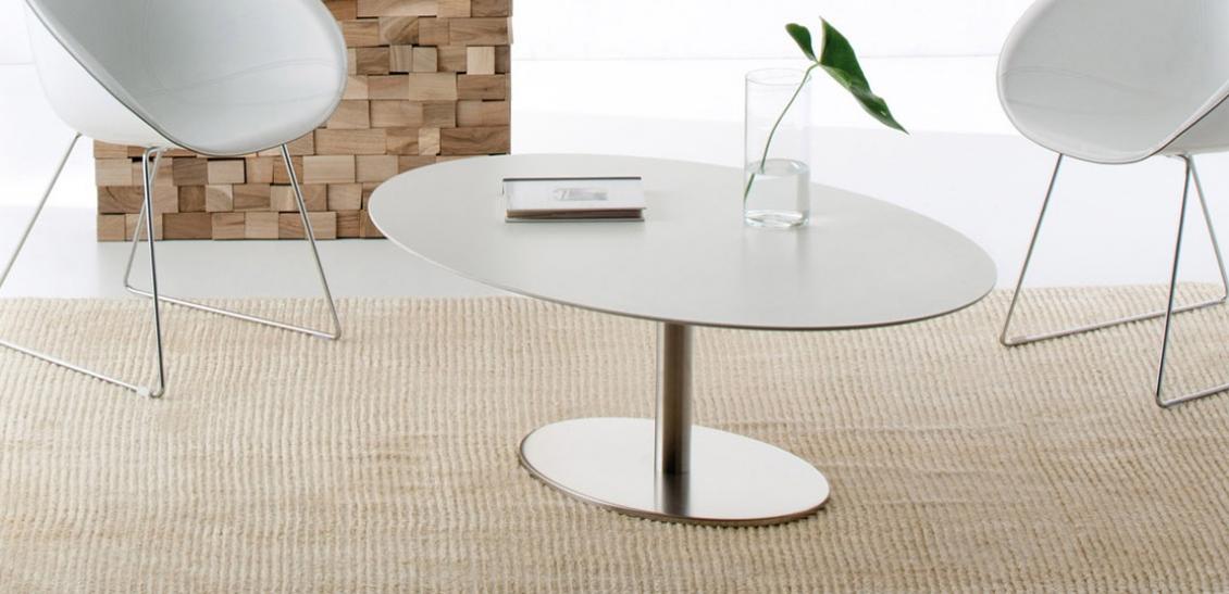 Table basse Inox elliptique Pedrali inox