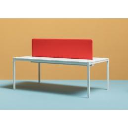 Table 4 pieds Kuadro desk Pedrali acier laqué