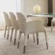 Table 4 pieds Magic Pedrali acier satiné inox verre rectangulaire