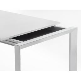 Table 4 pieds More Pedrali acier laqué