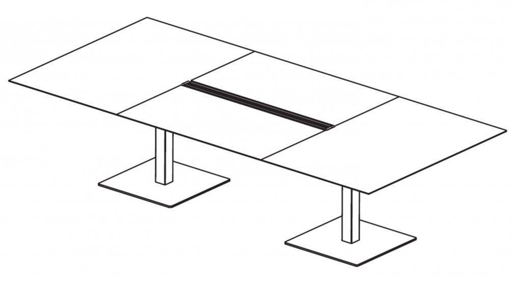 Tables pied central Plano Pedrali inox