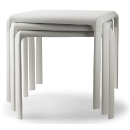 Table 4 pieds Snow Odo Fioravanti Pedrali
