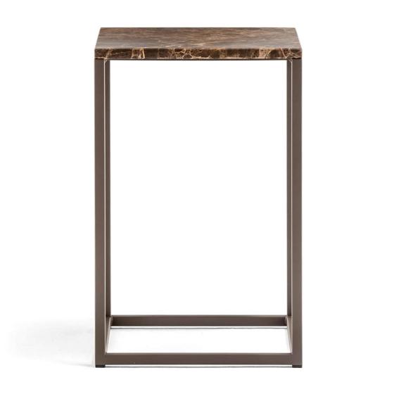 Table lounge bout de canapé Code Gigogne Pedrali acier marbre