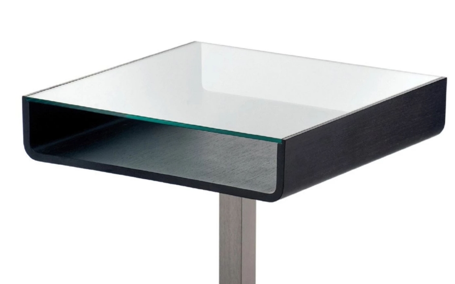 Tables pied central inox multifonctionnel bois