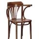 Chaise haute Kemy bois courbé hetre