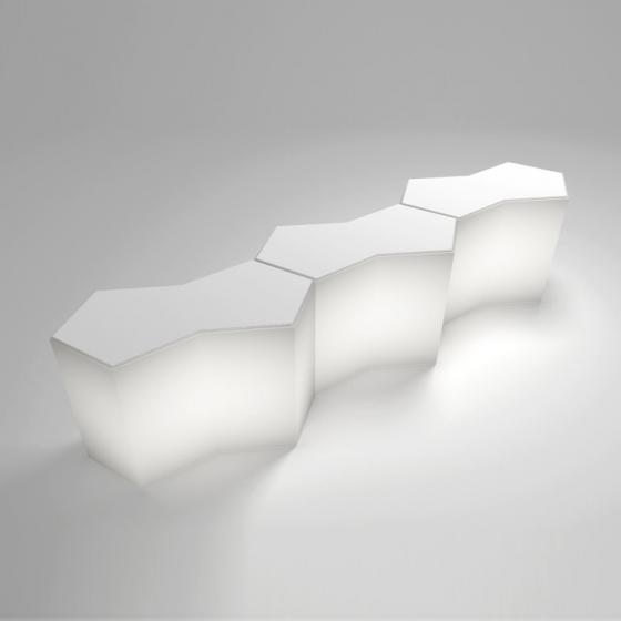 Comptoir de bar Iceberg Claudio Dondoli Marco Pocci Pedrali mobilier
