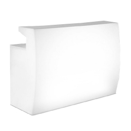 Comptoir de bar Igloo Pedrali mobilier lumineux transparent plastique