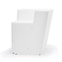 Comptoir de bar angle Oblique Pedrali éclairage lumineux design