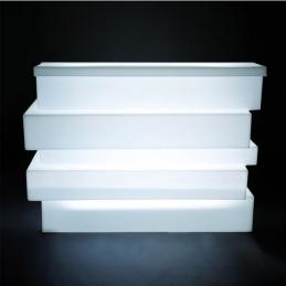 Comptoir de bar Tetris Pedrali éclairage LED lumineux design module