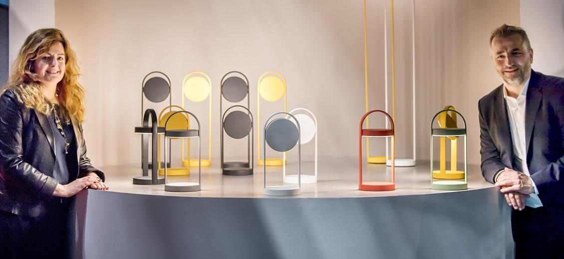 Lampes à poser Giravolta Pedrali design sans fil batterie extérieur