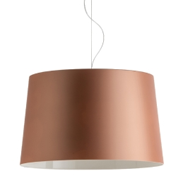 Suspension design L001S/B Pedrali lampe blanc noir beige transparent