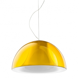 Suspension design L002S Pedrali lampe blanc noir rouge jaune transparent