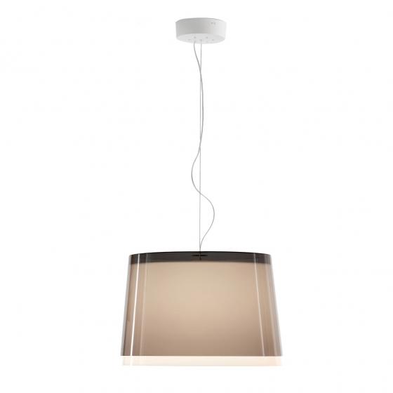 Suspension design L001S/B Pedrali lampe blanc noir beige transparent