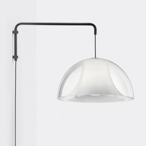 Suspension L002W Alberto Basaglia Pedrali Lampe coque design sur bras acier