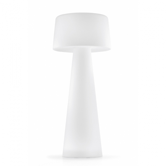 Lampadaire LED Time out Pedrali transparent blanc design extérieur jardin