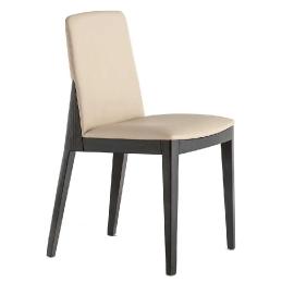 Fauteuil Allure Pedrali garnie chene cuir tissu velour plaza mobilier