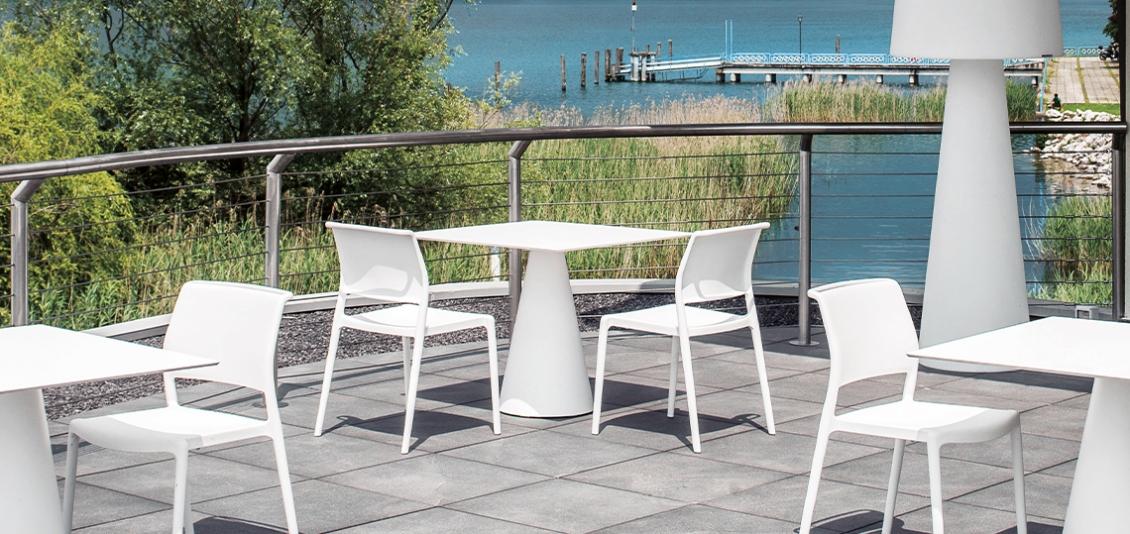Fauteuil Bridge Ara pedrali indoor outdoor empilable promo hotel