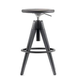 Tabouret Arki stool arkw6 acier bois réglable pivotant promo hotel