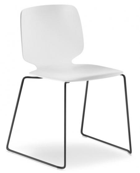 Chaise Babila Pedrali acier chrome garnie empilable promo mobilier
