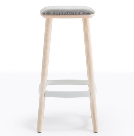 Tabouret Babila Pedrali aluminium tissu frene promo plaza mobilier