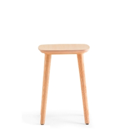 Tabouret bas Babila Pedrali tissu frene bois promo plaza mobilier