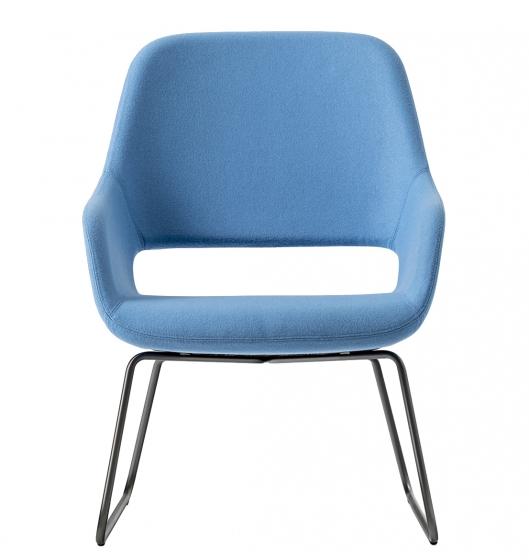 Fauteuil lounge Babila Comfort Pedrali acier chromé promo mobilier