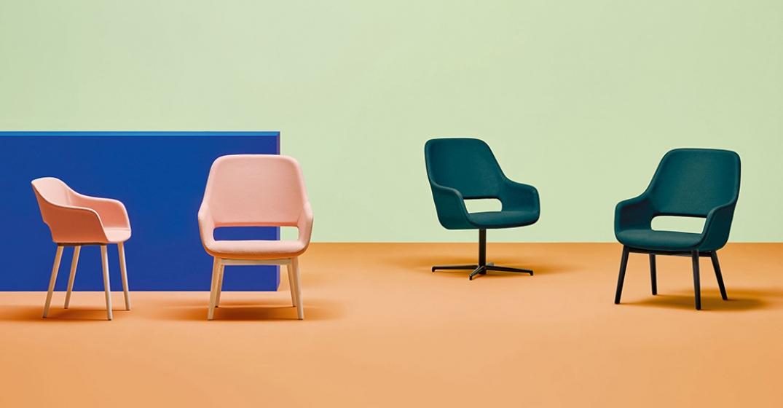 Fauteuil lounge Babila Comfort Pedrali frene bois garni promo mobilier