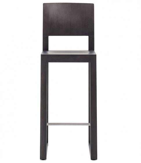chaise haut Brera Pedrali bois chenê acier inoxydable mobilier promo