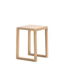 Tabouret bas Brera Pedrali bois chenê acier inoxydable mobilier promo