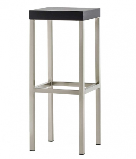 tabouret Cube Pedrali acier chromé satiné laqué mobilier