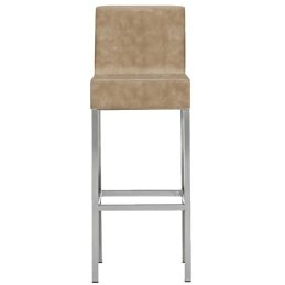 Chaise haute Cube XL Pedrali tissu cuir acier chromé satiné laqué