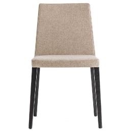 chaise Dress Pedrali chêne bois velour cuir tissu garnie mobilier